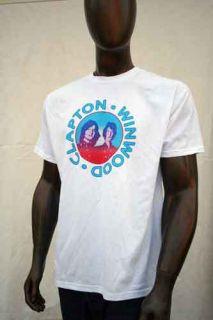 Eric Clapton Steve Winwood MSG 2008 Tshirt Portrait XL