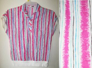 LIND & CLARE Vtg Pink slouch Indie Retro Top shirt S/M