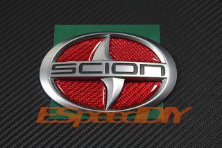 2011 Scion TC Coupe Red CF Carbon Fiber Front Grille Emblem Decal