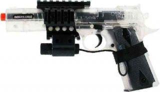 Colt 1911 Laser Airsoft Spring Gun Clear