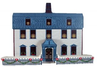 Shelia Collectible Dwight House Deerfield MA Old Fashioned Christmas