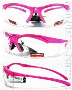Impact Clear Lens Pink Hi Viz Safety Glasses Motorcycle Glasses Z87.1