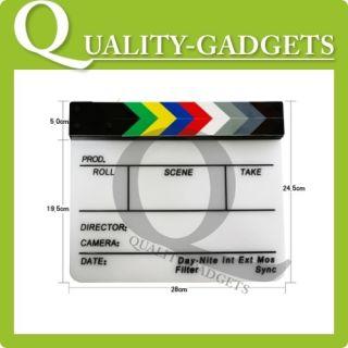 New Clap Clapper Clapperboard Board TV Film Movie Slate