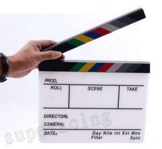 Clap Clapper Clapperboard Board TV Film Movie Action Scene Slate