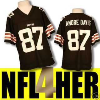 Cleveland Browns Andre Davis Womens NFL Jersey New L