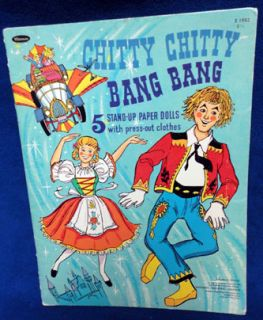 VINTAGE* 1968 Chitty Chitty Bang Bang Old Paper Doll Book Clothes