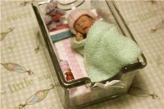 OOAK Art Doll Baby Girl Newborn Polymer Clay Sculpt 2 1 8 Hospital