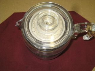 Vintage Pyrex 9 Cup Stove Top Percolator Glass Coffee Pot 7759 B