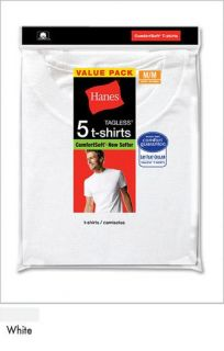 Pcs . Men Hanes White V Neck T Shirt Undershirt Cotton Soft Medium