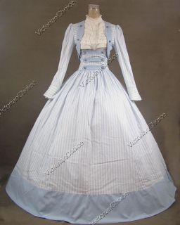 Civil War Victorian Cotton Ball Gown Day Dress Reenactment 187 S