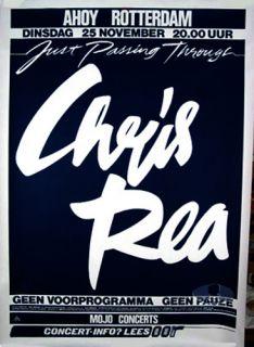 description original european concert poster for the chris rea 1986