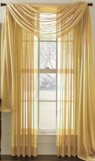 CLAIRE Sheer Voile Tailored Panel 58W x84L NEW (Regal Home)