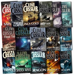 Clive Cussler Dirk Pitt Series Collection 16 Books Set Pacific Vortex