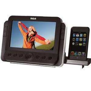 RCA RC85I Alarm Clock Radio Dock w LCD Screen Display for iPod iPhone