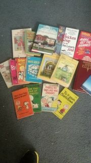 lot 18 mixed books charlie brown laura ingalls poems chicken soup