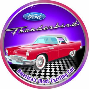 Tin Sign Vintage Garage Classic Car Ford Thunderbird T Bird 55 56 57