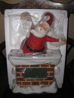 2011 Hallmark Countdown to Christmas Clock w Box Table Top Santa Claus