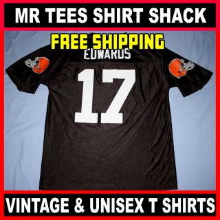 Cleveland Browns Braylon Edwards #17 NFL Football Jersey Brown Adult