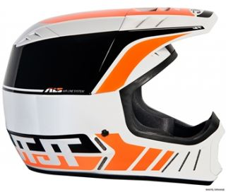 JT Racing ALS2 Full Face Helmet   White/Orange 2012