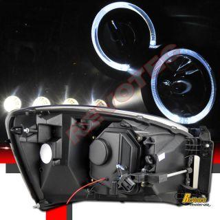 DODGE RAM 1500 2500 HALO PROJECTOR HEADLIGHTS & LED TAIL LIGHTS BLACK