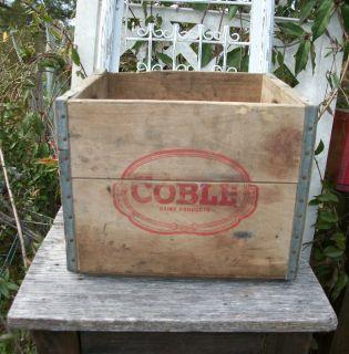 Vintage Antique Charleston SC Coble Dairy Primitive Wood Milk Bottle