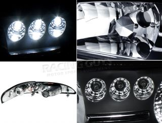 94 98 Ford Mustang Cobra GT 1pc LED Headlight Headlights Black Housing