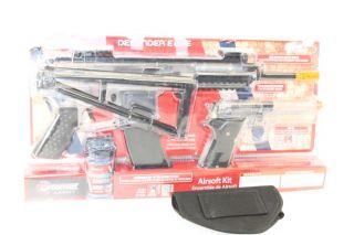 crosman ready to play airsoft 2 gun kit clear black