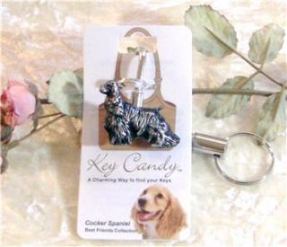 Cocker Spaniel Dog Best Friends Key Finder Purse Hook