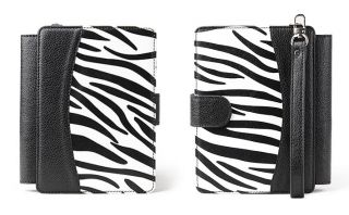 Kobo Touch Zebra Leather Cover Case with LED Lighted Light Screen