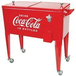 Coca Cola Cooler on Wheels Coke Ice Chest Vintage Retro Coke Cooler $