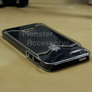 Clear Slot Hard Case Cover for Apple iPhone 5 5g 6th Gen