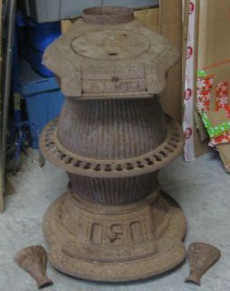 Keeley Stove Co. Columbia, PA Cast Iron Pot Belly Coal or Wood Stove