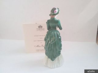 Coalport Victorian Elegance Figurine Miss Emily Plus COA