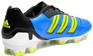 Adidas Predator Absolion TRX FG Mens Soccer Cleats, Blue/Black/Yellow