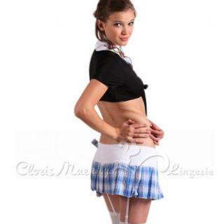 Cloris Murphy Sexy Party School Girl Costume One Size Set TB8678