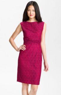 Adrianna Papell Empire Waist Lace Sheath Dress