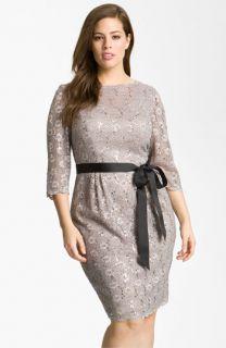 Alex Evenings Sequin Lace Sheath Dress (Plus)