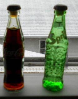 Vintage Sprite Coca Cola Miniature Glass Bottles