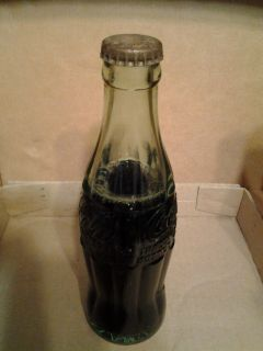 Coca Cola full glass bottle Embossed lettering Mt Airy F NC on bottom