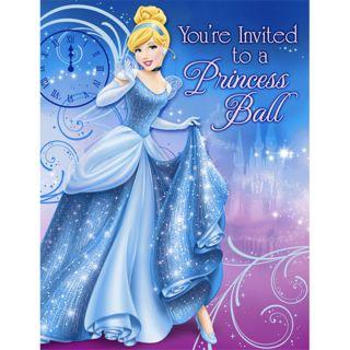 Cinderella Sparkle Invitations Birthday Disney Princess Party New