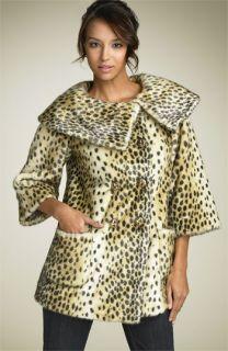 Juicy Couture Leopard Print Faux Fur Coat