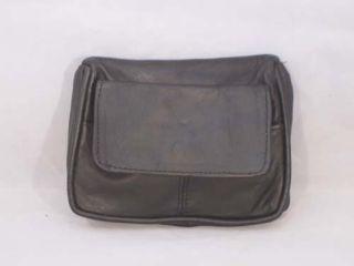 Coin Purse Mini Wallet Keys 3 Pockets New Black Leather