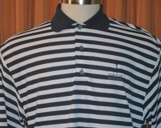 FootJoy ProDry Pique Charlie COE Invitational Blue Golf Polo Shirt
