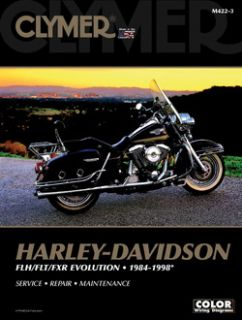 Clymer Repair Service Manual Harley Davidson FL FXR Big Twin Evolution