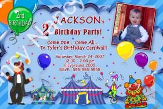 Carnival Circus Clown Ferris Wheel Boy Girl Photo Birthday Party