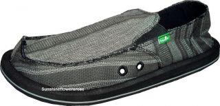 Sanuk Donny Mens Sidewalk Surfer Shoes Sandals Black New 9 10 11 12