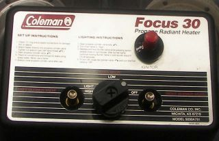 Coleman Focus 30 Electronic Ignition Bulk Mount Propane Heater