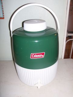 Coleman Drink Cooler Green Metal Round Water Jug 2 Gallon with CUP 5