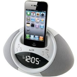 iLive Clock Radio Alarm and Dock for iPod and iPhone Purple