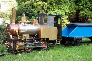 Big Handmade Coal Fired Live Steam Locomotive Train